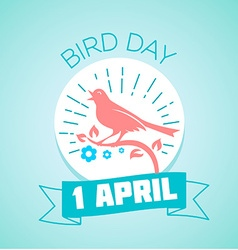 1 April Bird Day vector image