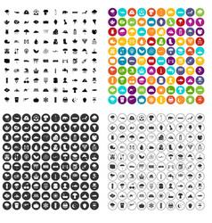 100 rain icons set variant vector