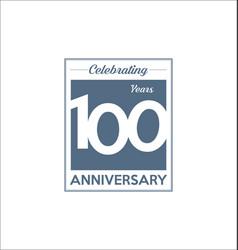 100 years anniversary modern design background vector