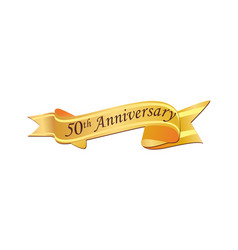 50th anniversary logo vector image