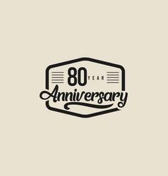 80 years anniversary celebration template design vector