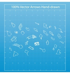 a hand drawn arrows vector image