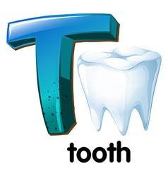 A letter T for tooth vector