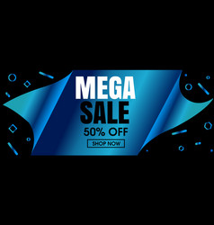 abstract modern blue sale banner design vector image