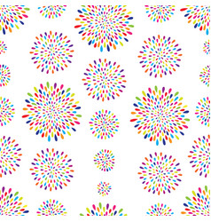 abstract pattern firework spot circle ornament vector image