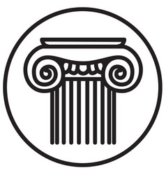 Ancient greece graphic image an antique column vector