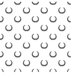 Anniversary wreath pattern seamless vector