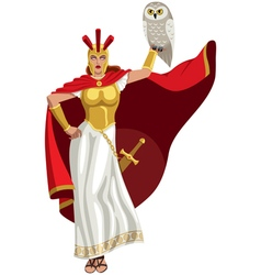 Athena on White vector image