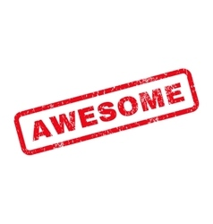 Awesome text rubber stamp vector