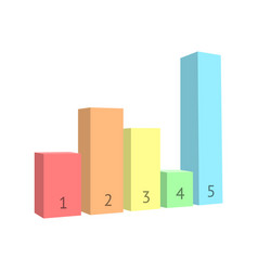 bar chart isolated on white background vector image