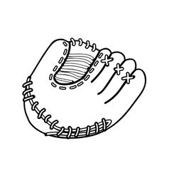 Baseball mitt icon image vector