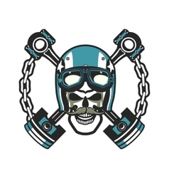 Biker Skull Emblem vector