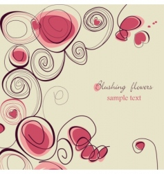Blushing flowers vector