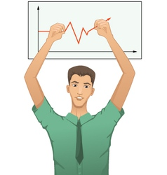 Businessman forecasts the progress vector image