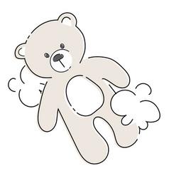Cartoon teddy bear plush toy bear for children vector