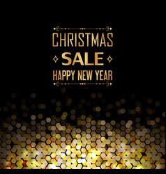 Christmas sale and happy new year poster vector