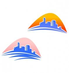 Cityscape symbols vector
