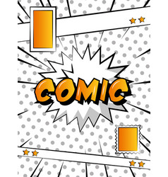 comic pop art vector image