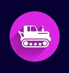 Crawler tractor icon button logo symbol concept vector