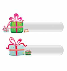 cute Christmas buttons vector image