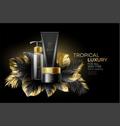 design cosmetics product adverting with black vector image