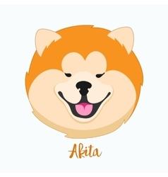 dog Akita vector image
