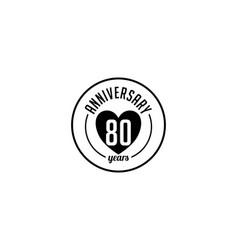 Eighty year anniversary badge vector