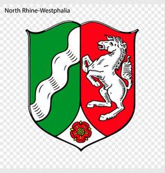 emblem of north rhine-westphalia province of vector image