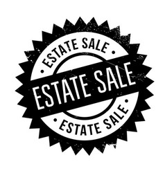 estate sale rubber stamp vector image