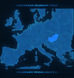 europe abstract map hungary vector image