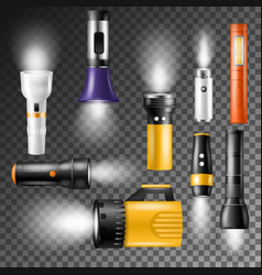 flashlight flash-light lighting with vector image