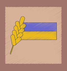 Flat shading style icon ukrainian flag vector