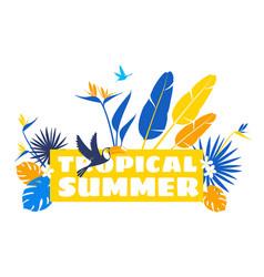 floral pattern background frame border tropical vector image