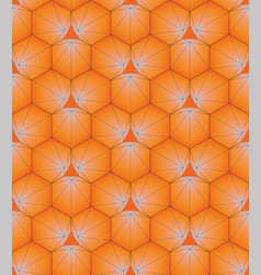 geometric pattern in the form of a hexagon vector image
