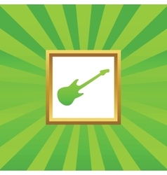 Guitar picture icon vector