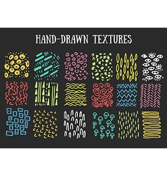 Hand drawn textures Isolated vector image
