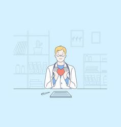 heart cardiology health medicine vector image