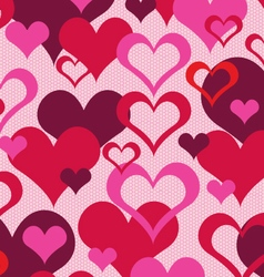 hearts on lace vector image