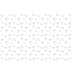hearts seamless pattern hand drawn background vector image