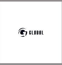 initial letter g logo design template vector image