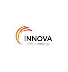 Innovation technology company abstract logo vector