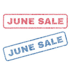 june sale textile stamps vector image
