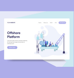 landing page template of offshore platform vector image