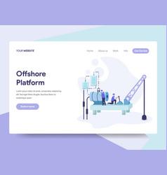 landing page template offshore platform vector image