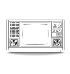 Line Vintage TV 1 vector image