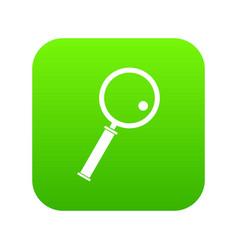 loupe icon digital green vector image