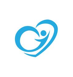Love human logo image vector