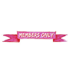 Members only ribbon vector