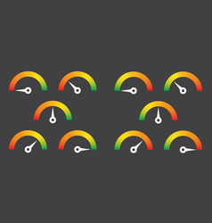 Meter sign infographic gauge element vector