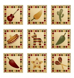 Mexican squares vector image